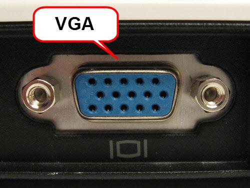 ช่องเสียบสาย VGA กล่องกล้องวงจรปิด CCTVCheck24